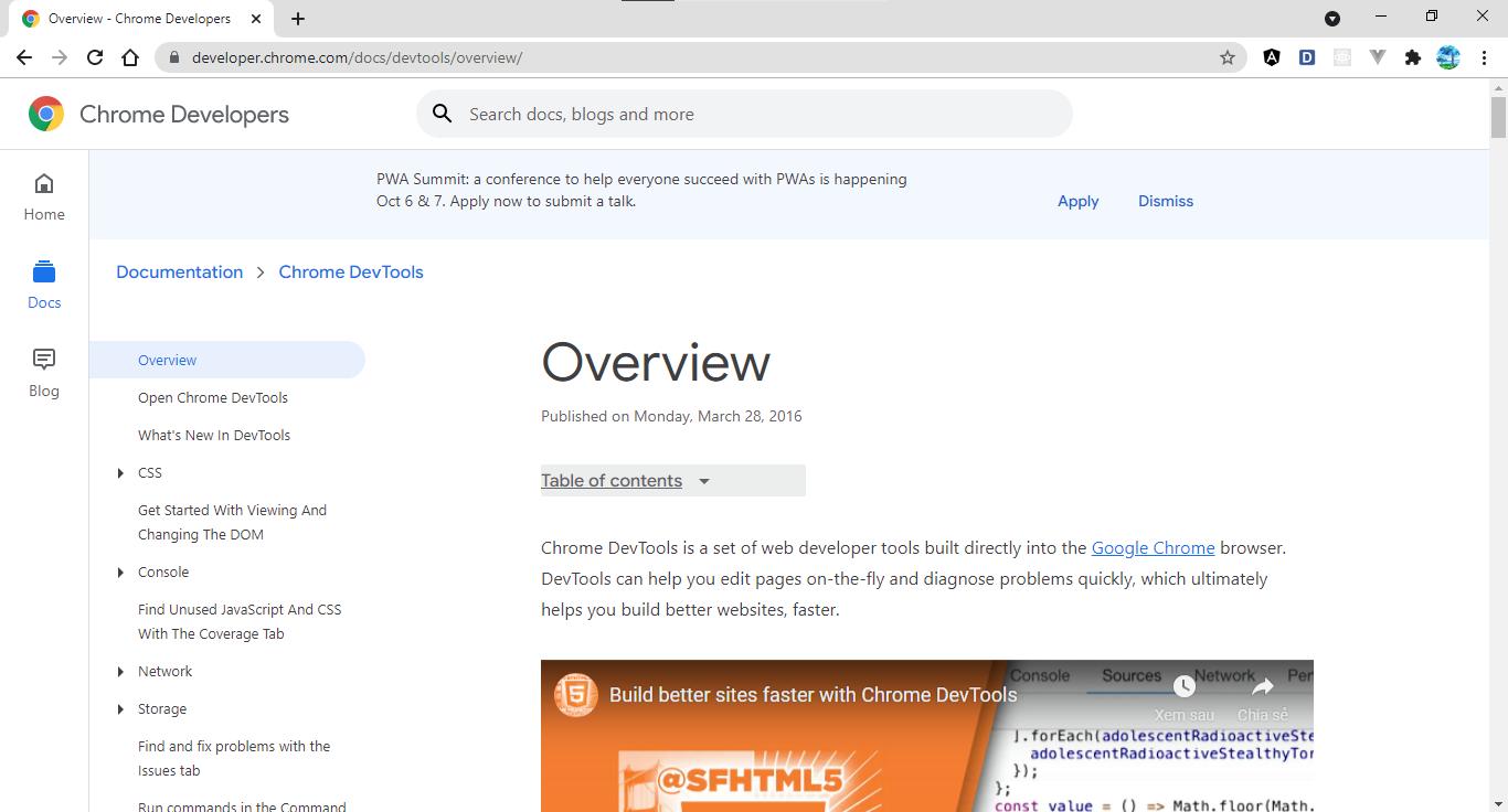 Chrome Developers