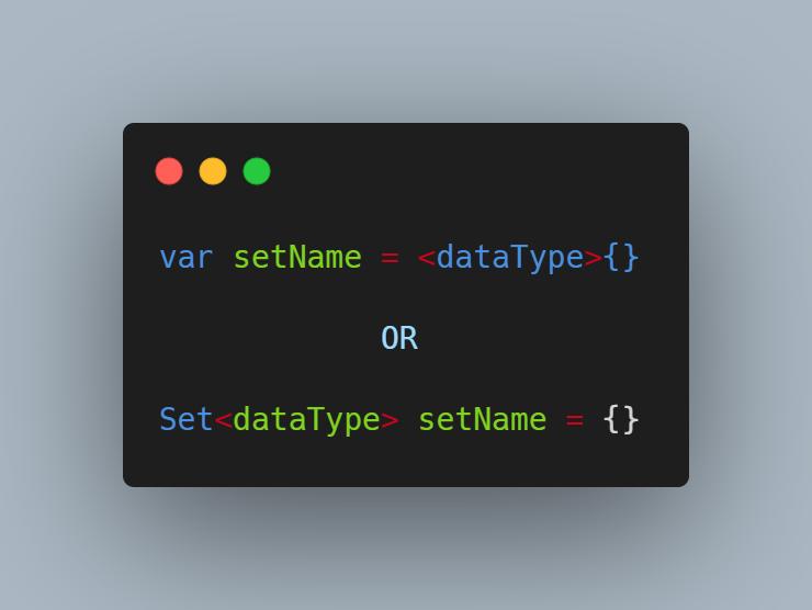 Tạo ra một Set rỗng bằng cách sử dụng hàm dựng.