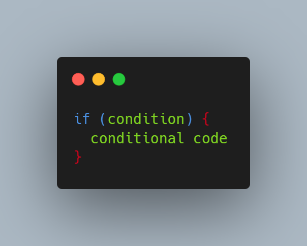 syntax câu lệnh if