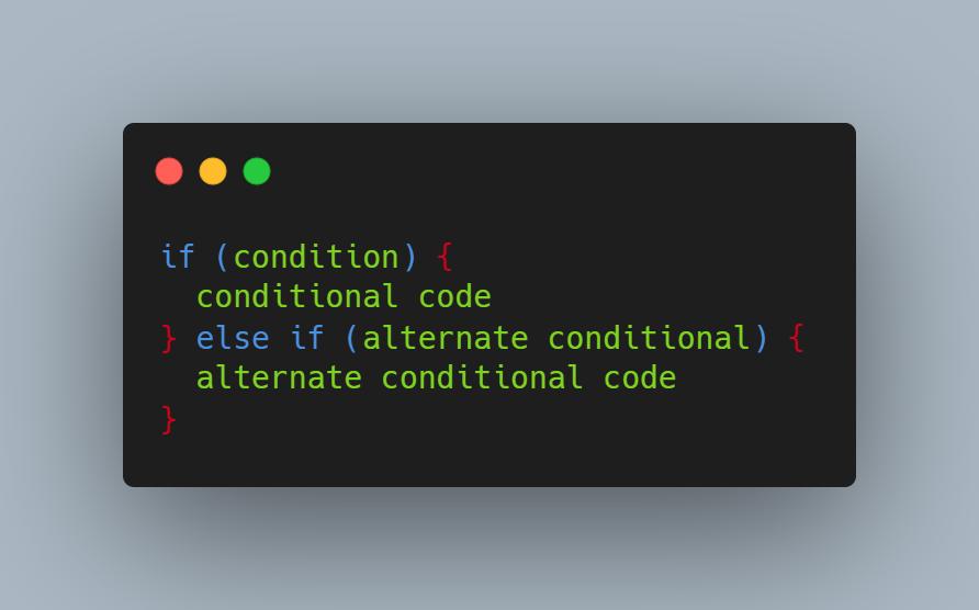 syntax câu lệnh else if