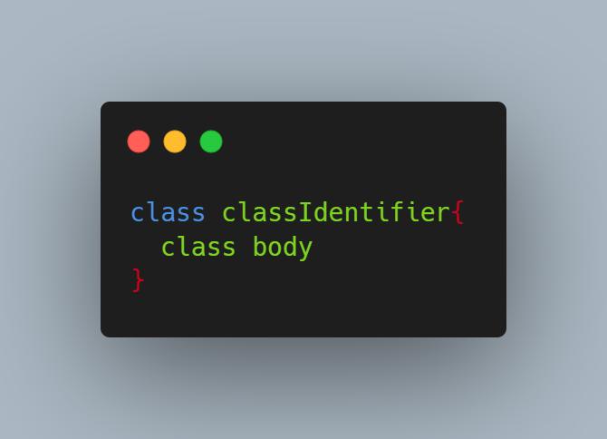 syntax tạo class trong ngôn ngữ Dart