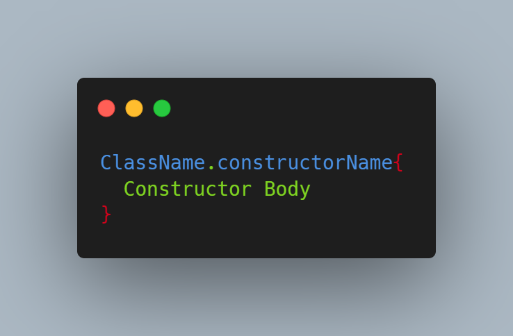 Named Constructor
